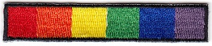 Rainbow Bar Embroidered Iron-on Patch