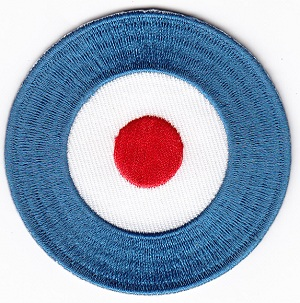 Mod Dot Embroidered Iron-on Patch