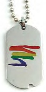 Rainbow Squiggle Dog Tag Necklace