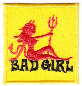 Bad Girl Embroidered Iron-on Patch