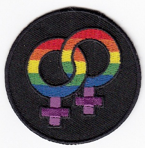 Lesbian Rainbow Double Venus Embroidered Iron-on Patch