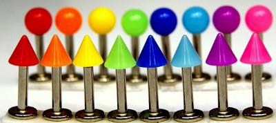 UV Reactive Neon Spike/Ball Labret