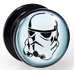 "Acrylic Stormtrooper Screwfit Solid Back ""Stash"" Plug"