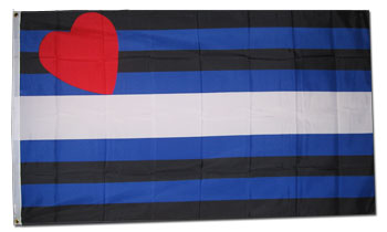 Medium Leather Pride Flag 2ft x 3ft