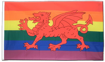 Medium Welsh Rainbow Pride Flag 2ft x 3ft