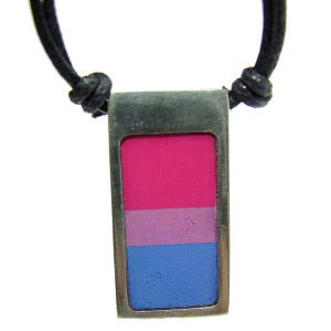 Bisexual Pride Pewter Pendant Necklace
