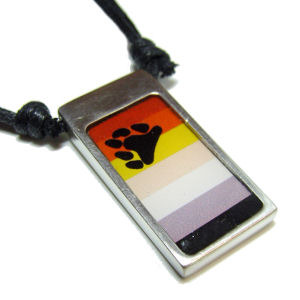 Bear Pride Pride Pewter Pendant Necklace