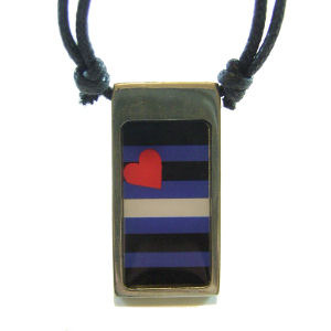 Leather Pride Pride Pewter Pendant Necklace