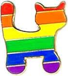 Rainbow Cat Lapel Pin Badge