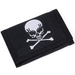 Skull and Crossbones Chain Wallet