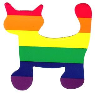 Rainbow Cat Window Clinger