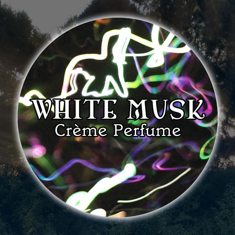White Musk 15mL Glass Jar