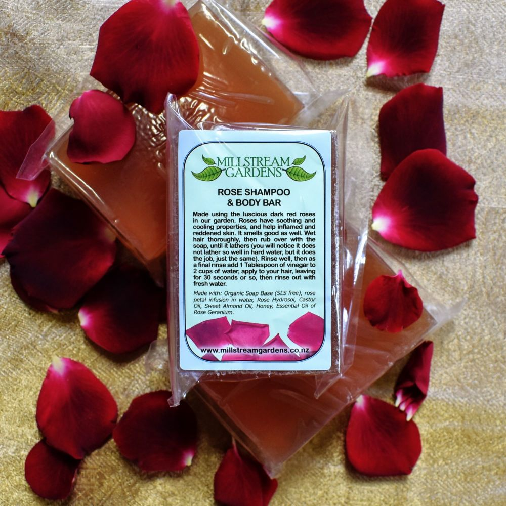 Shampoo and Body Bar: Rose