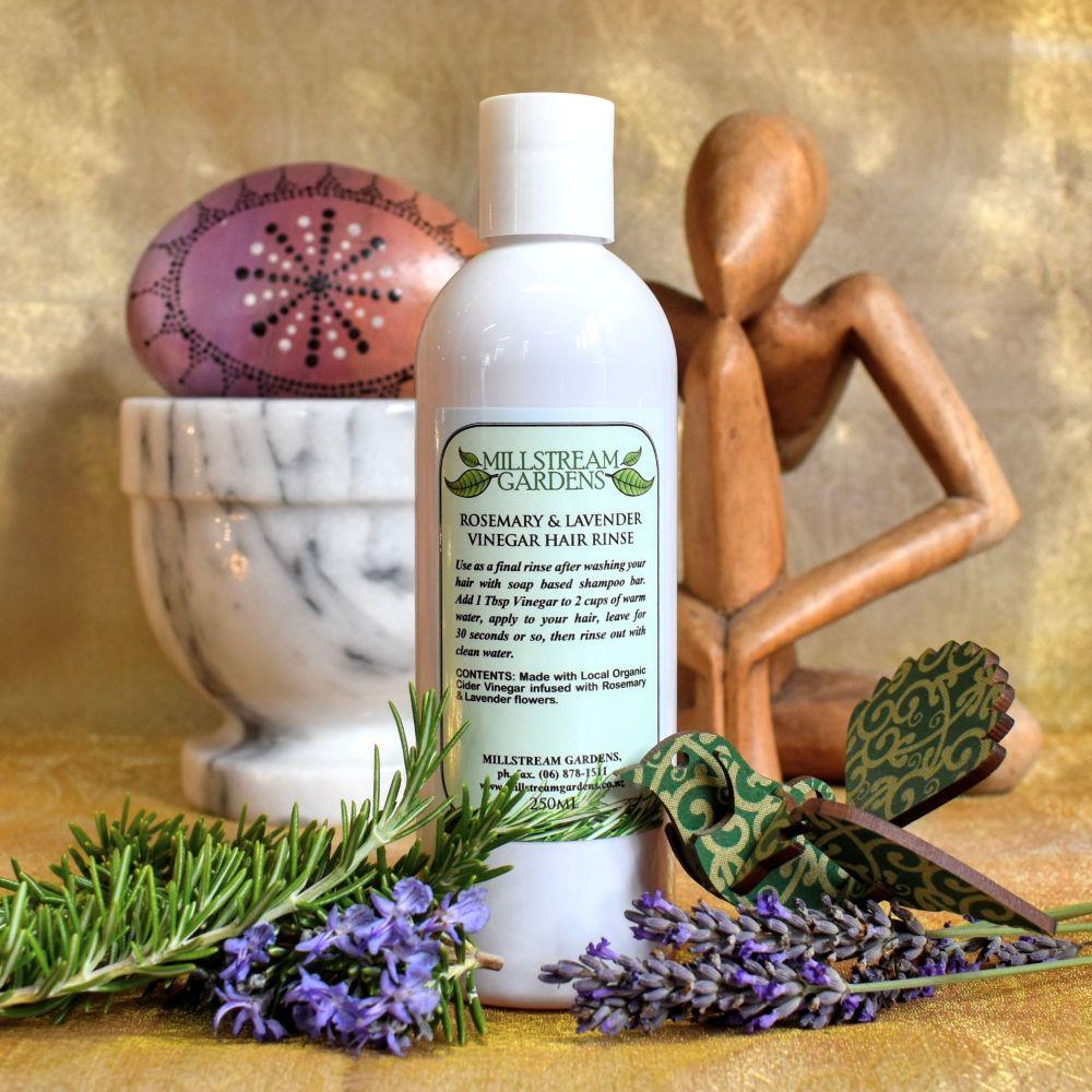 Vinegar Hair Rinse: Rosemary & Lavender - 250mL Bottle