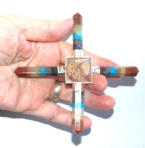 Chakra Points Pyramid Crystal Energy Grid Generator Usui Reiki Symbols = Fr