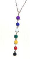 7 Crystal Chakra Pendant on Chain - Gift Box  - FREE SHIP UK