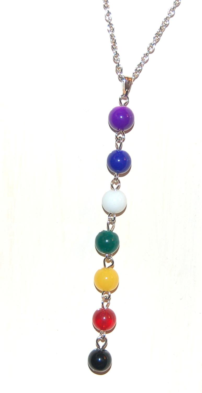 7 Crystal Chakra Pendant on Chain - Gift Box  - FREE SHIP UK