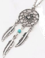 "Beautiful  3"" Large Native American DreamCatcher Pendant on Long Chain"