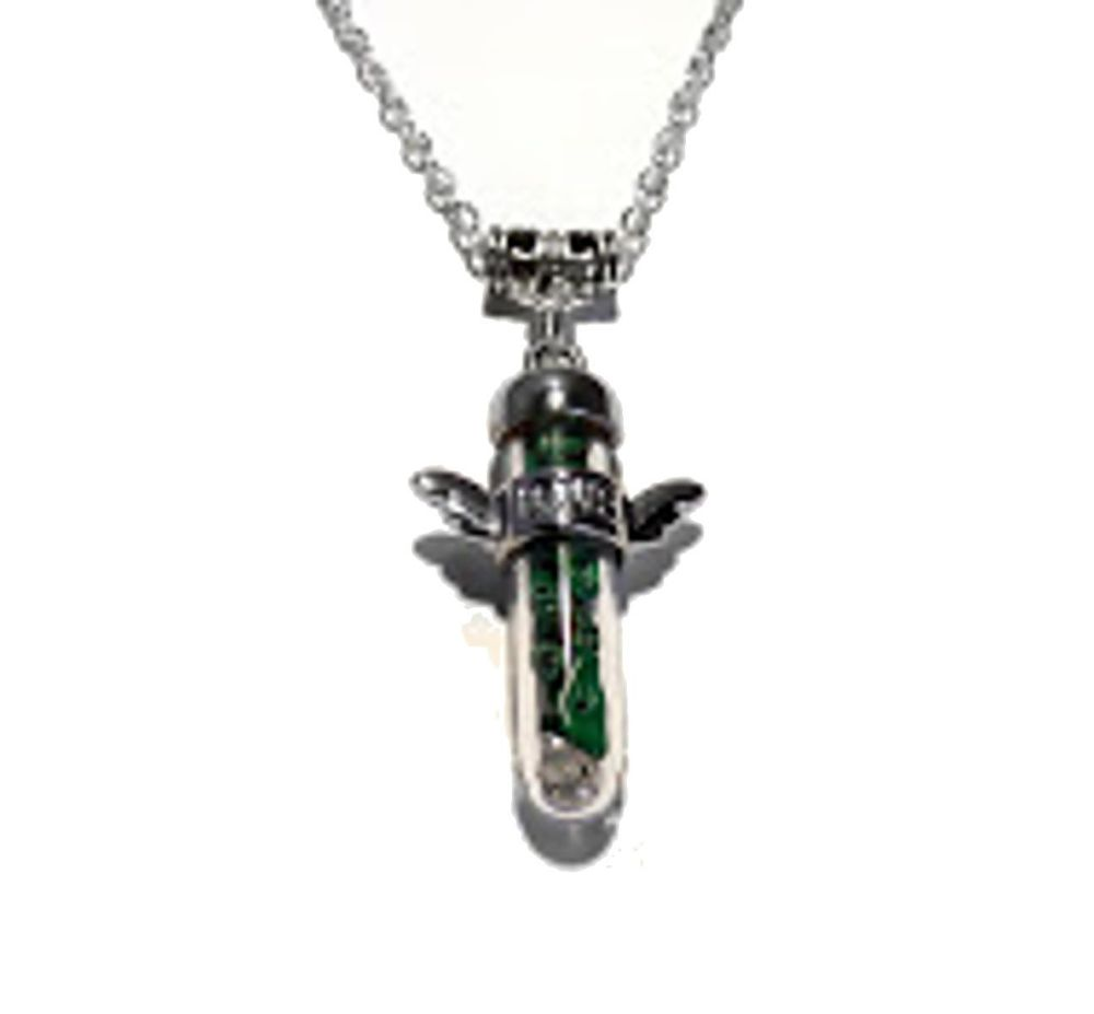 Powerful Malachite Crystal Chakra Healing Guardian Love Angel Wing Pendant