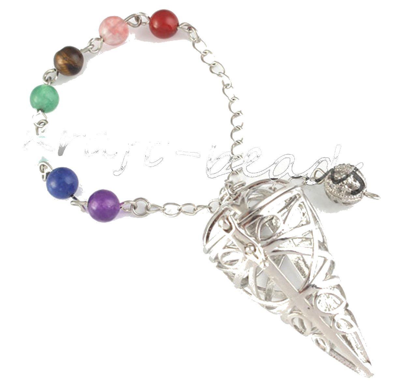 Large Moldavite Crystal Chakra Cage Healing Pendulum Dowser - Transformation Free ship UK