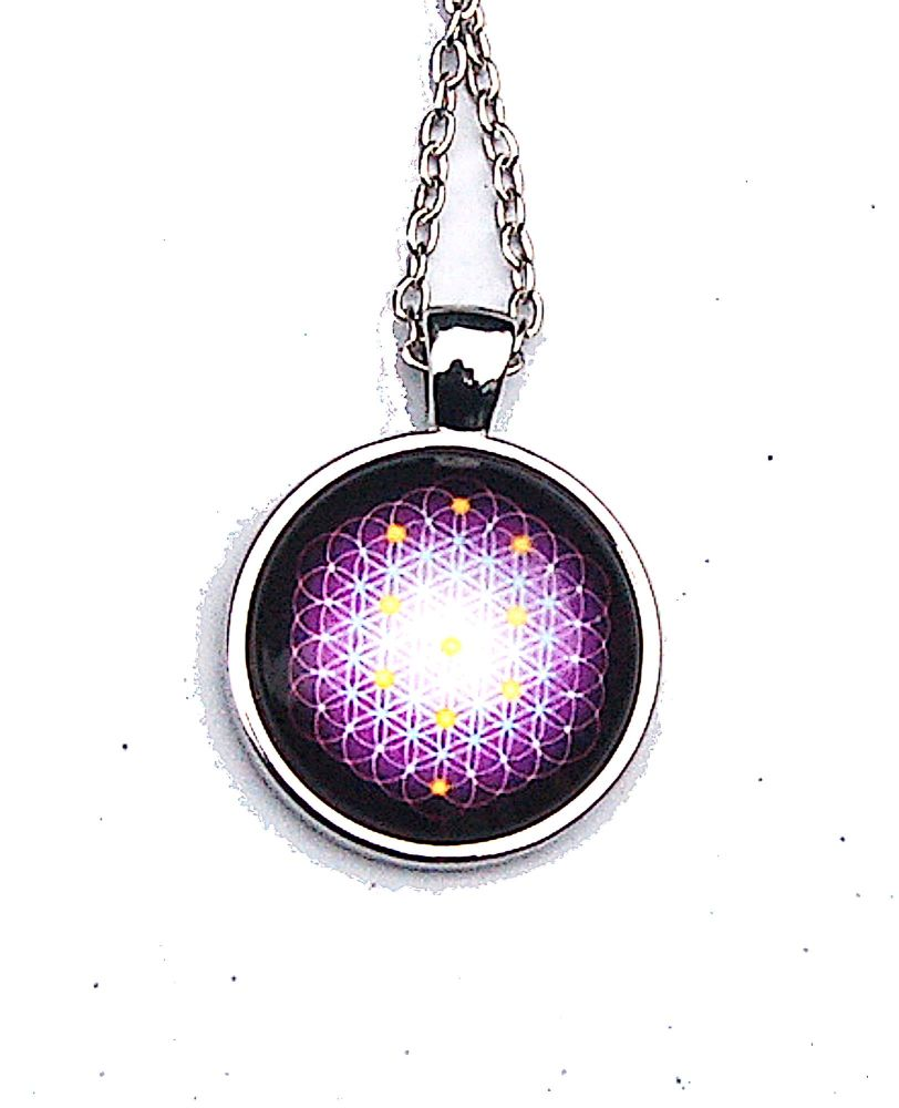 Powerful Flower of Life Pendant on Chain - Gift Box - FREE SHIP UK - Ascension From Matrix
