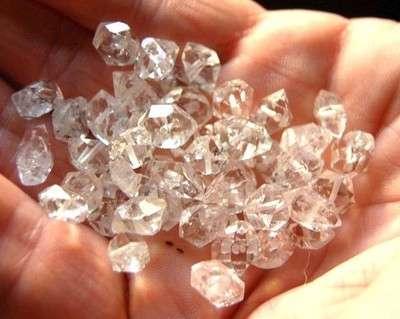10 Herkimer Diamond Drilled 6 to 8mm Beads