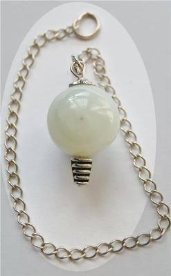 Beautiful New Jade Crystal Sphere Dowser Pendulum - Serenity NJ72