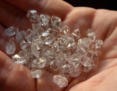 10 Herkimer Diamond Drilled 8 to 10mm Beads