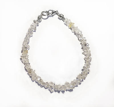 6 - 8mm Herkimer Diamond Crystal Bracelets  Length 7 inches long - Stay in