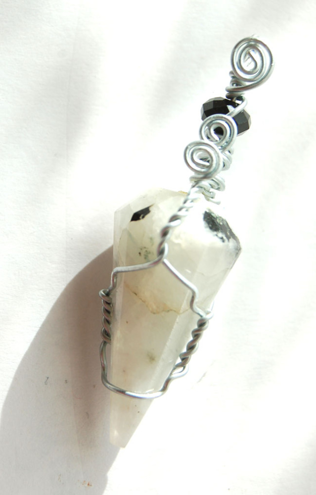 Moonstone Crystal Pendant Handcrafted PT16