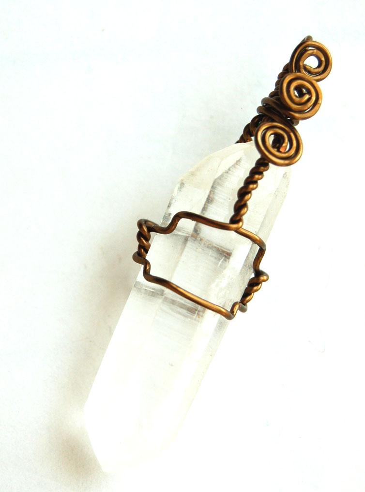 Lemurians Crystal Pendant Handcrafted PT26 b