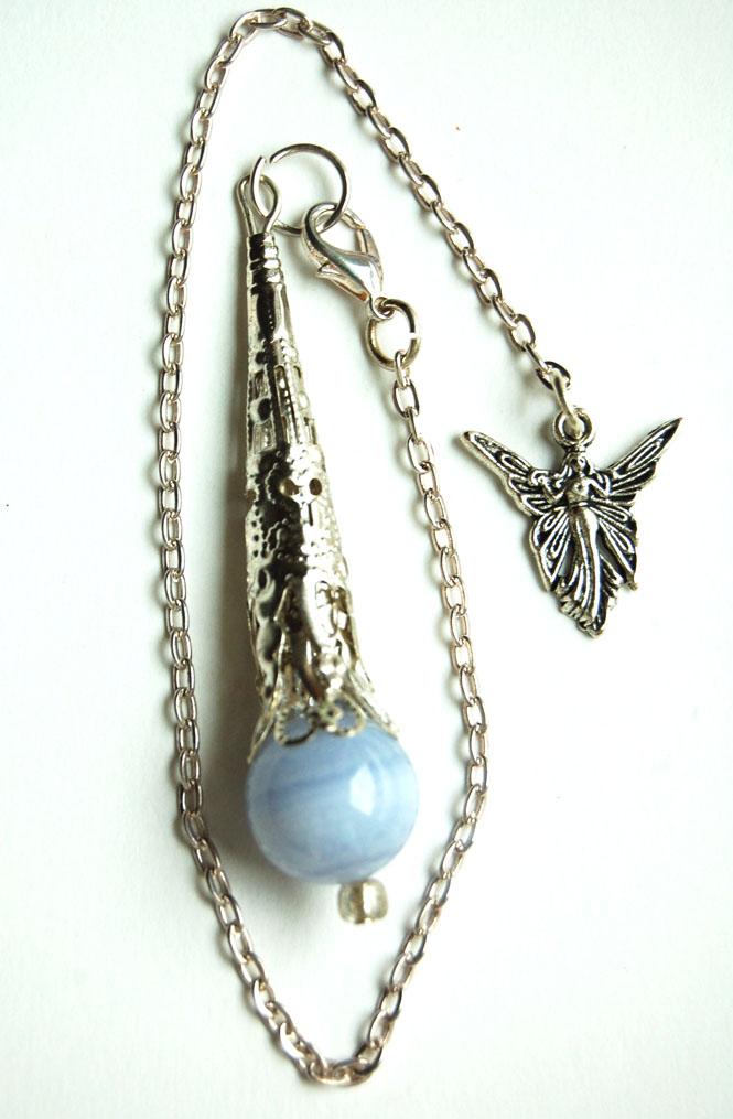 Amazing Blue Lace Agate Crystal Pendulum MX15