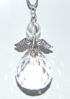 Pretty Angel Suncatcher Facetted Crystal Xmas Tree Decoration Car or Bag Charm