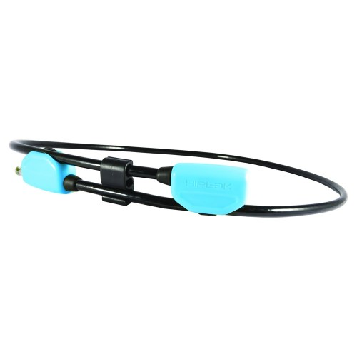 Hiplok POP Wearable Cable Lock 10mm x 1.3M - waist 24-42 inches Cyan