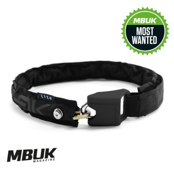 Hiplok LITE Wearable Chain Lock 6mm x 75cm - waist 24-44 inches (Bronze Sold Secure) Black