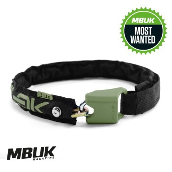 Hiplok LITE Wearable Chain Lock 6mm x 75cm - waist 24-44 inches (Bronze Sold Secure) Black / Urban Green