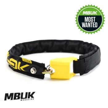 Hiplok LITE Wearable Chain Lock 6mm x 75cm - waist 24-44 inches (Bronze Sold Secure) Black / Yellow