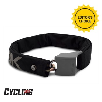 Hiplok ORIGINAL V1.5 Wearable Chain Lock 8mm x 90cm - waist 24-44 inches (Silver Sold Secure) Black / Reflective Grey