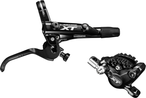 Shimano M8000 XT bled I-spec-II Brake Lever and Calliper, Front Right