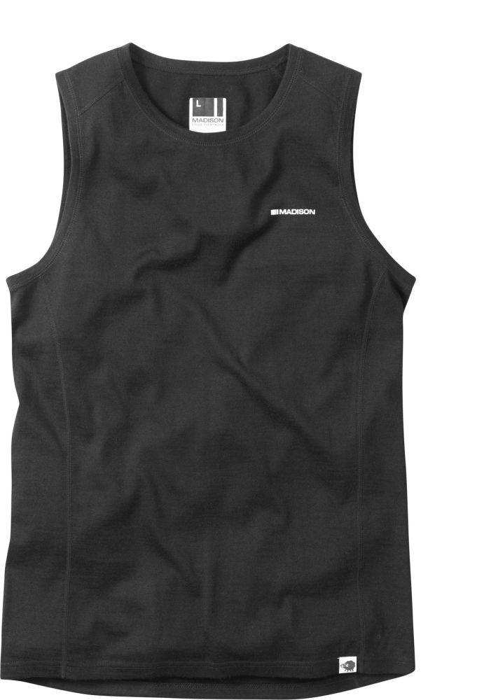 Madison Isoler Merino Sleeveless Baselayer Black