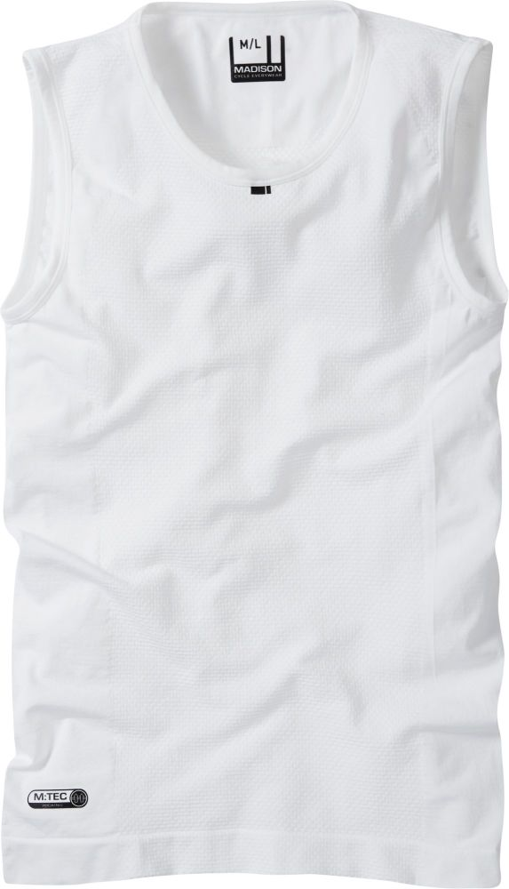 Madison Isoler Mesh Sleeveless Baselayer White