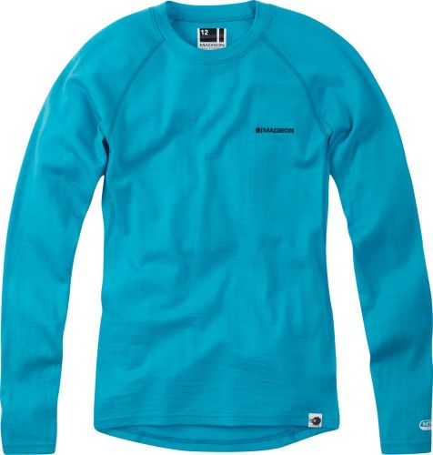 Madison Isoler Merino Womens Long Sleeve Baselayer Aqua Blue