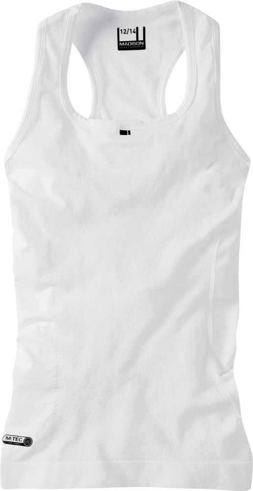 Madison Isoler Mesh Womens Sleeveless Baselayer White