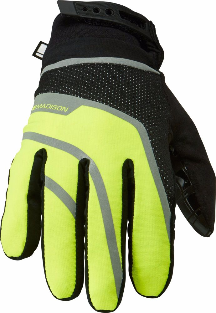 Madison Avalanche Mens Waterproof Gloves Hi Viz Yellow