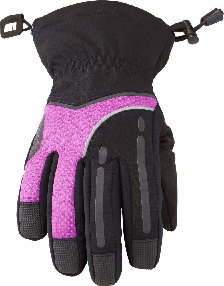 Madison Stellar Womens Waterproof Gloves Black / Purple Cactus
