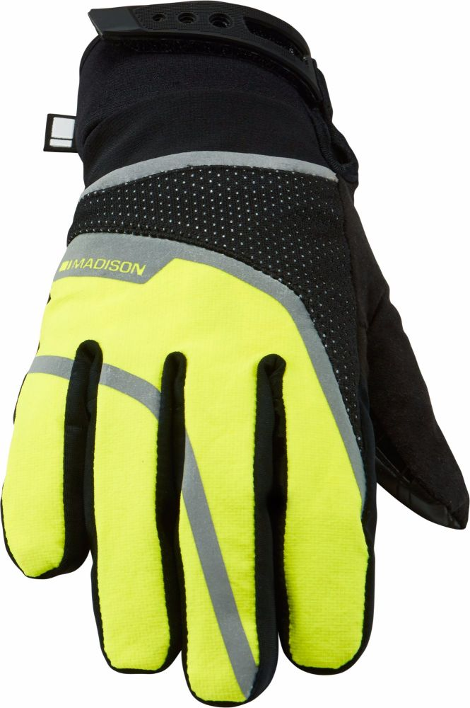 Madison Avalanche Womens Waterproof Gloves Black Hi Viz Yellow