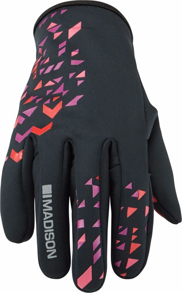 Madison Element Womens Softshell Gloves Black / Chilli Red