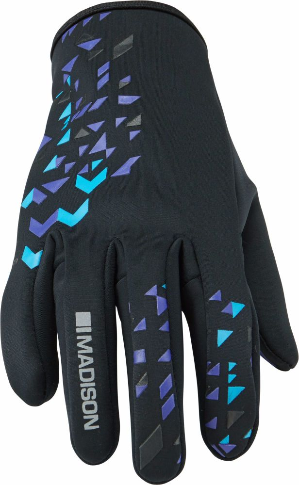 Madison Element Womens Softshell Gloves Black / Purple Reign