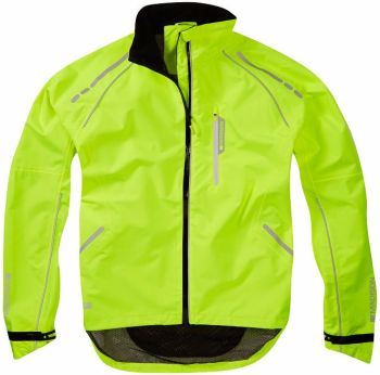 Madison Prime Mens Waterproof Jacket Hi Viz Yellow