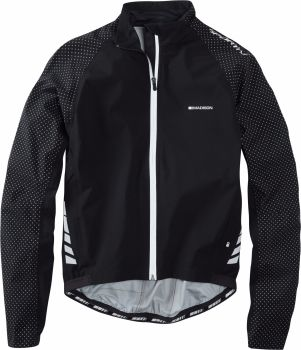 Madison Sportive Hi Viz Mens Waterproof Jacket Black